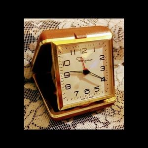 Vintage Ingrahm Travel Alarm Clock